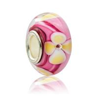 Lampwork Perlen European Stil, Rondell, handgemacht, Messing-Dual-Core ohne troll & großes Loch, 7x14mm, Bohrung:ca. 5mm, verkauft von PC