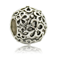 Zink Legierung Europa Perlen, Zinklegierung, Trommel, antik silberfarben plattiert, ohne troll, frei von Blei & Kadmium, 10x11mm, Bohrung:ca. 4-4.5mm, verkauft von PC