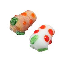 Holprige Lampwork Perlen, gemischte Farben, 11x15x11mm, Bohrung:ca. 1.5mm, 10Taschen/Menge, 10PCs/Tasche, verkauft von Menge