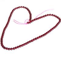 Natürlicher Granat Perlen, rund, für Frau, 4.5mm, ca. 95PCs/Strang, verkauft per ca. 16.5 ZollInch Strang