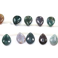 Natürliche Indian Achat Perlen, Indischer Achat, Tropfen, verschiedene Größen vorhanden, Bohrung:ca. 0.1-1mm, Länge:ca. 16.5 ZollInch, verkauft von Menge