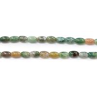 Natürliche Indian Achat Perlen, Indischer Achat, oval, 7x4.50x4.50mm, Bohrung:ca. 0.8mm, Länge:ca. 15.5 ZollInch, 10SträngeStrang/Menge, ca. 53PCs/Strang, verkauft von Menge