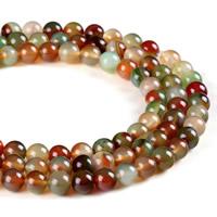 Malachit Perlen, Malachit Achat, rund, natürlich, verschiedene Größen vorhanden, Bohrung:ca. 1mm, verkauft per ca. 15.5 ZollInch Strang