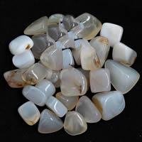Natürliche weiße Achat Perlen, Weißer Achat, Klumpen, kein Loch, 15-20mm, 50G/Tasche, verkauft von Tasche