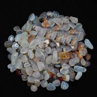 Natürliche weiße Achat Perlen, Weißer Achat, Klumpen, kein Loch, 7-11mm, 50G/Tasche, verkauft von Tasche