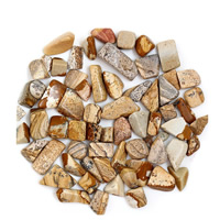 Bild Jaspis Perlen, Klumpen, kein Loch, 7-11mm, 50G/Tasche, verkauft von Tasche