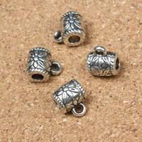 Zinklegierung Stiftöse Perlen, antik silberfarben plattiert, frei von Nickel, Blei & Kadmium, 10x8x7mm, Bohrung:ca. 2mm, 3mm, 100PCs/Menge, verkauft von Menge