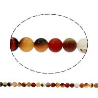 Natürlich rote Achat Perlen, Roter Achat, rund, 5mm, Bohrung:ca. 1mm, ca. 74PCs/Strang, verkauft per ca. 15 ZollInch Strang