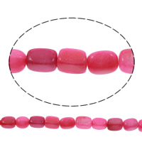 Natürliche Rosa Achat Perlen, Rechteck, 8x13x8-9x13x9mm, Bohrung:ca. 1mm, ca. 28PCs/Strang, verkauft per ca. 14 ZollInch Strang