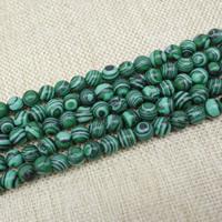 Malachit Perlen, rund, verschiedene Größen vorhanden, Länge:ca. 15 ZollInch, ca. 3SträngeStrang/Tasche, verkauft von Tasche