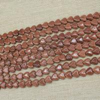 Goldsand Perle, Herz, synthetisch, 12mm, Länge:ca. 15 ZollInch, 3SträngeStrang/Tasche, ca. 30PCs/Strang, verkauft von Tasche