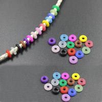 Silikon Positionierrohr, Kreisring, keine, frei von Nickel, Blei & Kadmium, 6mm, Bohrung:ca. 2mm, 100PCs/Tasche, verkauft von Tasche