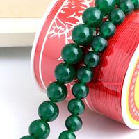 Natürliche grüne Achat Perlen, Grüner Achat, rund, verschiedene Größen vorhanden, Bohrung:ca. 1mm, verkauft per ca. 15 ZollInch Strang