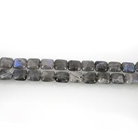 Labradorit Perle, Quadrat, 10x10x5mm, Bohrung:ca. 0.5mm, ca. 39PCs/Strang, verkauft per ca. 15.5 ZollInch Strang