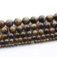 Tigerauge Perlen, rund, natürlich, verschiedene Größen vorhanden, verkauft per ca. 15 ZollInch Strang