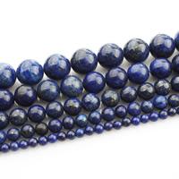 Lapislazuli Perlen, natürlicher Lapislazuli, rund, natürlich, verschiedene Größen vorhanden, verkauft per ca. 15 ZollInch Strang