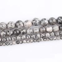 Picasso Jaspis Perle, rund, natürlich, verschiedene Größen vorhanden, verkauft per ca. 15 ZollInch Strang