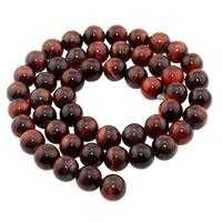 Tigerauge Perlen, rund, natürlich, verschiedene Größen vorhanden, rot, verkauft per ca. 15 ZollInch Strang