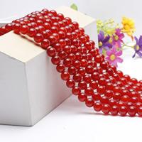 Natürlich rote Achat Perlen, Roter Achat, rund, verschiedene Größen vorhanden, verkauft per ca. 15.5 ZollInch Strang