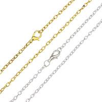 Eiserne Halskette Kette, Eisen, plattiert, Oval-Kette, keine, frei von Nickel, Blei & Kadmium, 4x2.50x0.50mm, verkauft per ca. 18 ZollInch Strang