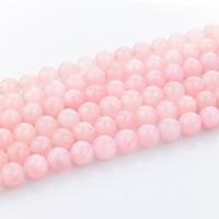 Natürliche Rosenquarz Perlen, rund, verschiedene Größen vorhanden, Bohrung:ca. 1mm, verkauft per ca. 15 ZollInch Strang