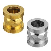 Edelstahl-Perlen mit großem Loch, Edelstahl, Zylinder, plattiert, facettierte & großes Loch, keine, 10x10mm, Bohrung:ca. 6mm, 50PCs/Menge, verkauft von Menge
