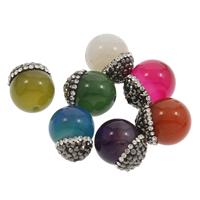 Drachenvenen Achat Perle, mit Ton, keine, 14x16mm-14x17mm, Bohrung:ca. 1mm, verkauft von PC