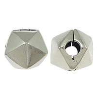925 Sterling Silber Europa Clip- Setting, Trommel, 10x9x9mm, Bohrung:ca. 3mm, verkauft von PC