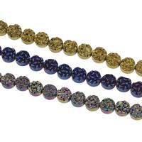 Nicht-magnetische Hämatit Perlen, mit Non- magnetische Hämatit, flache Runde, plattiert, keine, 8x4mm, ca. 49PCs/Strang, verkauft per ca. 15 ZollInch Strang