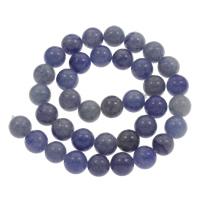 Blauer Aventurin Perle, rund, verschiedene Größen vorhanden, Bohrung:ca. 1mm, verkauft per ca. 15 ZollInch Strang