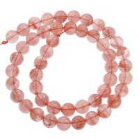 Kirsche Quarz Perle, rund, verschiedene Größen vorhanden, Bohrung:ca. 1mm, verkauft per ca. 15 ZollInch Strang