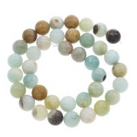 Amazonit Perle, rund, verschiedene Größen vorhanden, Bohrung:ca. 1mm, verkauft per ca. 15 ZollInch Strang