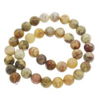 Natürliche verrückte Achat Perlen, Verrückter Achat, rund, verschiedene Größen vorhanden, Bohrung:ca. 1mm, verkauft per ca. 15 ZollInch Strang