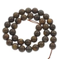 Bronzit Stein Perlen, rund, natürlich, verschiedene Größen vorhanden, grau, Bohrung:ca. 1mm, verkauft per ca. 15 ZollInch Strang