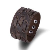 comeon® Schmuck Armband, Kuhhaut, Zinklegierung Druckknopf Verschluss, Platinfarbe platiniert, einstellbar & für den Menschen, verkauft per ca. 9.4 ZollInch Strang