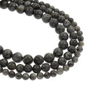 Labradorit Perlen, rund, natürlich, verschiedene Größen vorhanden, Bohrung:ca. 1mm, verkauft per ca. 15.5 ZollInch Strang