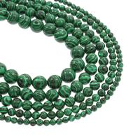 Malachit Perlen, rund, synthetisch, verschiedene Größen vorhanden, Bohrung:ca. 1mm, verkauft per ca. 15.5 ZollInch Strang