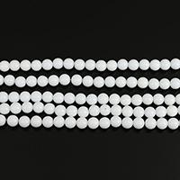 Riesenmuschel Perle, rund, 8mm, Bohrung:ca. 0.5mm, Länge:ca. 15 ZollInch, 10SträngeStrang/Menge, ca. 50PCs/Strang, verkauft von Menge