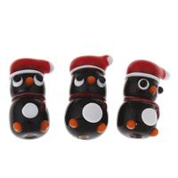 Weihnachten Lampwork Perlen, Schneemann, handgemacht, Weihnachtsschmuck, 12x20.50x10.50mm, verkauft von PC