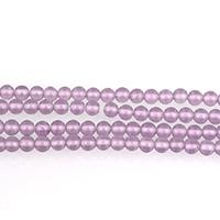 Mode Glasperlen, Glas, rund, violett, 3mm, Bohrung:ca. 0.5mm, Länge:ca. 16 ZollInch, 12SträngeStrang/Menge, ca. 130PCs/Strang, verkauft von Menge