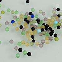 Mode Glasperlen, Glas, rund, gemischte Farben, 2mm, Bohrung:ca. 0.4mm, 3Taschen/Menge, ca. 1000PCs/Tasche, verkauft von Menge