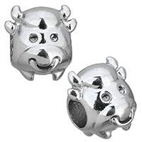 Edelstahl European Perlen, Tier, ohne troll, originale Farbe, 12x10.50x12.50mm, Bohrung:ca. 4.5mm, 10PCs/Menge, verkauft von Menge