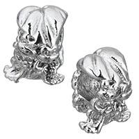 Edelstahl European Perlen, Frosch, ohne troll, originale Farbe, 10x12x96mm, Bohrung:ca. 4.5mm, 10PCs/Menge, verkauft von Menge