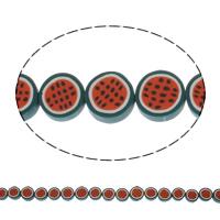 Harz Schmuckperlen, flache Runde, Volltonfarbe, 10x4mm-x12x4mm, Bohrung:ca. 1mm, Länge:ca. 21.5 ZollInch, 5SträngeStrang/Tasche, ca. 50PCs/Strang, verkauft von Tasche