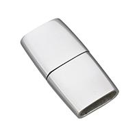 Edelstahl Magnetverschluss, plattiert, keine, 24.50x12.50x5mm, Bohrung:ca. 3x10mm, 5PCs/Menge, verkauft von Menge