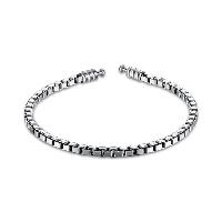 comeon® Schmuck Armband, Thailand, unisex & Kastenkette, 3mm, verkauft per ca. 7.5 ZollInch Strang