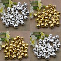 Zinklegierung Glockenanhänger, plattiert, verschiedene Größen vorhanden, keine, frei von Blei & Kadmium, Bohrung:ca. 1.5mm, 100PCs/Tasche, verkauft von Tasche