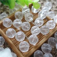 Natürliche klare Quarz Perlen, Klarer Quarz, rund, facettierte, 12mm, Bohrung:ca. 0.5-1mm, 30PCs/Tasche, verkauft von Tasche
