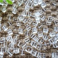 Synthetischer Quarz Perlen, Würfel, klar, 6mm, Bohrung:ca. 0.5-1mm, 50PCs/Tasche, verkauft von Tasche