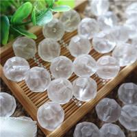 Natürliche klare Quarz Perlen, Klarer Quarz, rund, facettierte, 14mm, Bohrung:ca. 0.5-1mm, 20PCs/Tasche, verkauft von Tasche